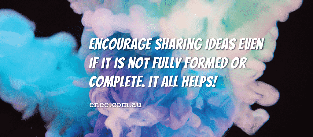 quote encourage sharing ideas