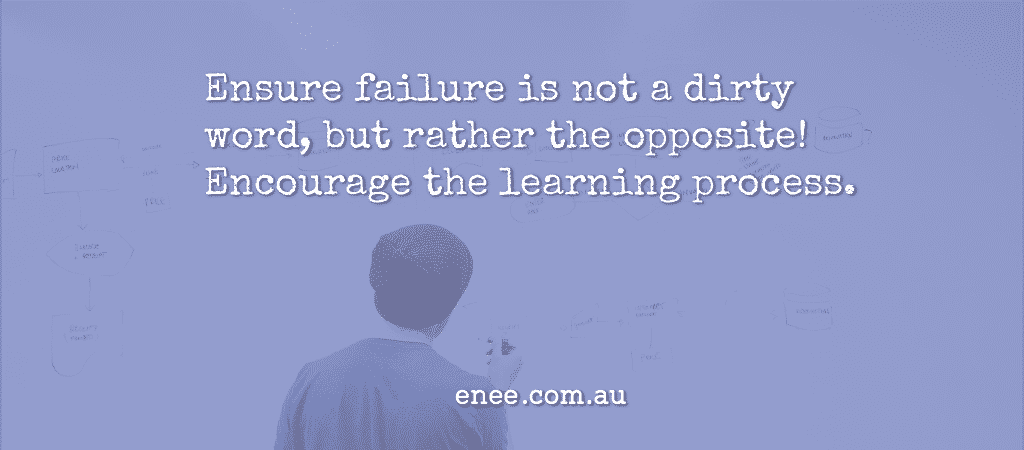 quote failure is not a dirty word encourage the learning process